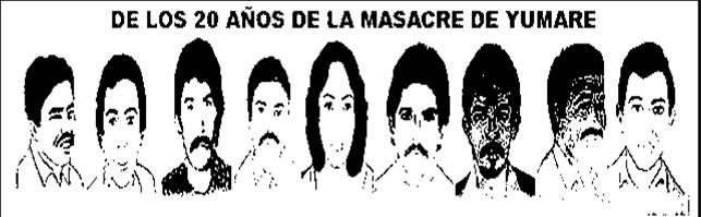 20 años de la masacre de YUMARE