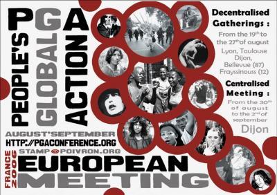 ca) Invitación al próximo encuentro de la Acción Global de los Pueblos 19 de agosto - 3 de septiembre - en Francia