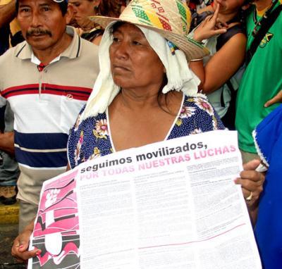 Manifestación por la vida de la sierra de perijA y lxs hermanxs indígenas